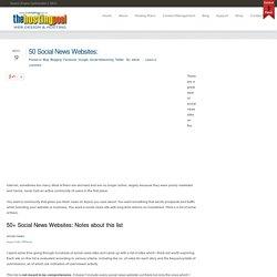 50 Social News Websites: