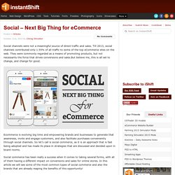 Social – Next Big Thing for eCommerce