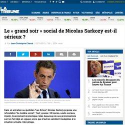Le « grand soir » social de Nicolas Sarkozy est-il sérieux ?
