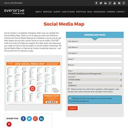 Social Media Map, Social Media Marketing by Overdrive Interactive