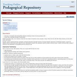 Social Videos - Pedagogical Repository