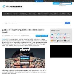 [Social media] Pourquoi Pheed ne sera pas un succès