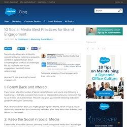 10 Social Media Best Practices for Brand Engagement