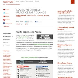 Social Media Best Practices at a Glance | FARMnWIFE