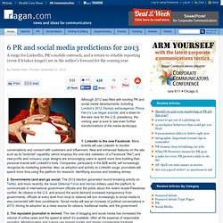 6 PR and social media predictions for 2013