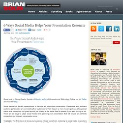 6 Ways Social Media Helps Your Presentation Resonate Brian Solis