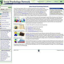 About Social Psychology Network