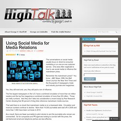 Using Social Media for Media Relations « HighTalk