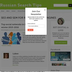 Social media in Russia - Russian Search Tips