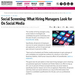 What Hiring Managers Look For on Social Media