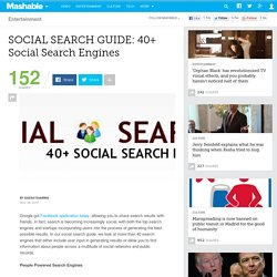 SOCIAL SEARCH GUIDE: 40+ Social Search Engines