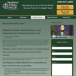Social Security Law** - Stephens Fiddes McGill