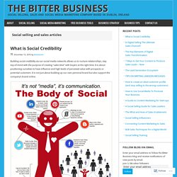 Social Selling – The Bitter Business