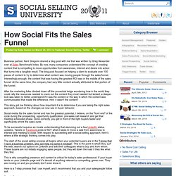 How Social Fits the Sales Funnel | Social Selling University