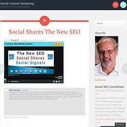 Social Shares The New SEO « Social Local Video SEO