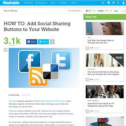 HOW TO: Add Social Sharing Buttons to Your Website