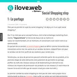 Social Shopping step 1 : Le partage