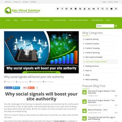Why social signals will boost your site authority