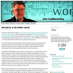 WEBLOGSKY: Jon Lebkowsky's Blog