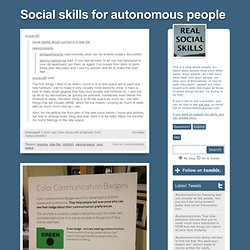 Social skills for autonomous people