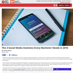 The 3 Social Media Statistics Every Marketer Needs in 2016