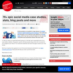 70+ epic social media case studies, stats, blog posts and more