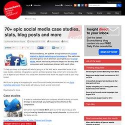 70+ epic social media case studies, stats, blog posts and more