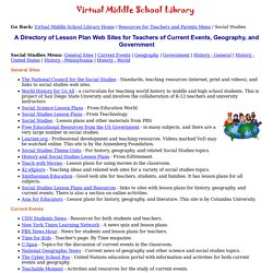 Social Studies Web Sites for Teachers