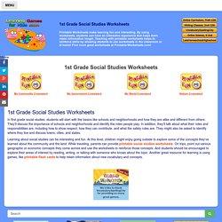 1st Grade Social Studies Worksheets