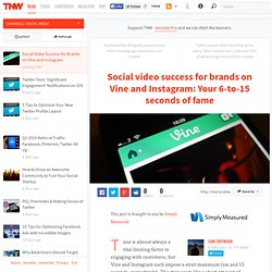 Social Video Success for Brands on Vine and Instagram