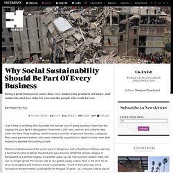 Why Social Sustainability Should Be Part Of Every Business