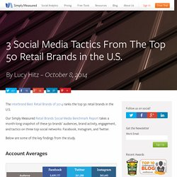 3 Social Media Tactics From The Top 50 Retail Brands in the U.S.