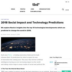 2018 Social Impact and Technology Predictions