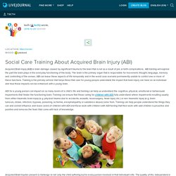 Social Care Training About Acquired Brain Injury (ABI): tscth