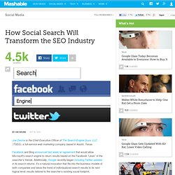How Social Search Will Transform the SEO Industry