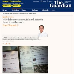 Why fake news on social media travels faster than the truth
