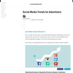Social Media Trends for Advertisers