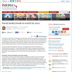 Social media trends to watch for 2011