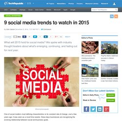 9 social media trends to watch in 2015