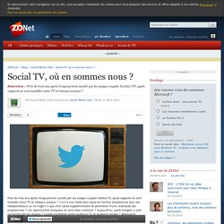 Social TV, où en sommes nous ?