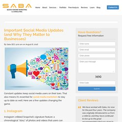 3 New Social Media Updates Businesses Can't Ignore