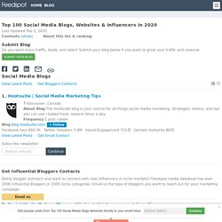 Top 100 Social Media Blogs, Websites & Newsletters To Follow in 2019