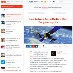 How to track Social Media within Google Analytics - TNW Social Media