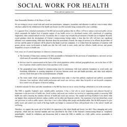 Social Work For Health ›