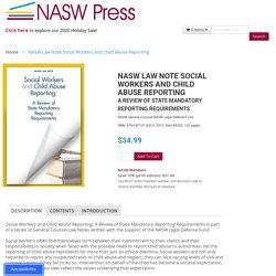 NASW Law Note Social Workers and Child Abuse Reporting
