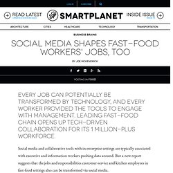Social media shapes fast-food workers' jobs, too