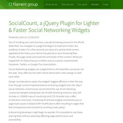 SocialCount, a jQuery Plugin for Lighter & Faster Social Networking Widgets