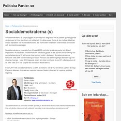 Socialdemokraterna (s) - Politiska Partier. se
