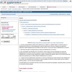 Code de l'action sociale et des familles - Article R314-122