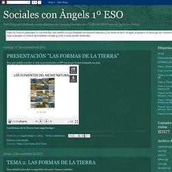 Sociales con Àngels 1º ESO: noviembre 2013